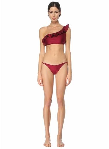 Zimmermann Zimmermann Poppy  Tek Omuzlu Bikini Takımı 101598452 Bordo